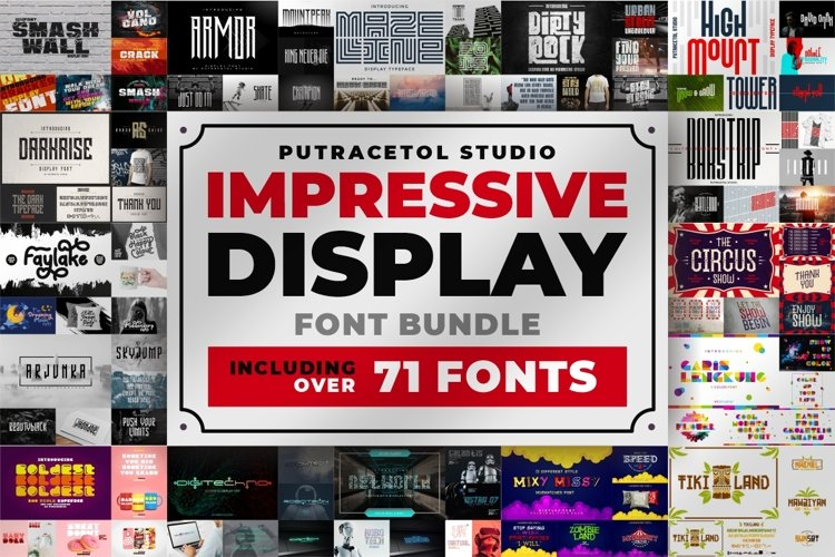 Impressive Display Font Bundles example image 1