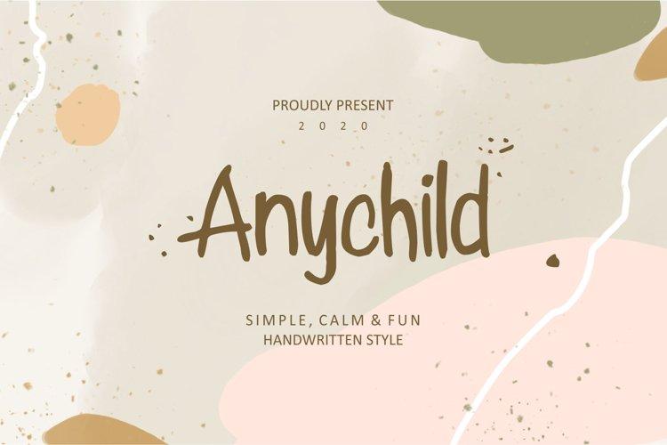 Anychild Handwritten Script Font example image 1