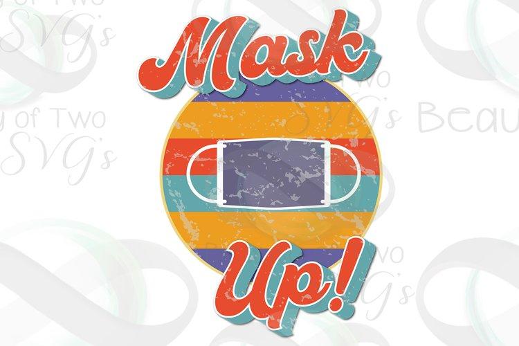 Wear a Mask png, Mask Up Vintage Distressed Sublimation png example image 1