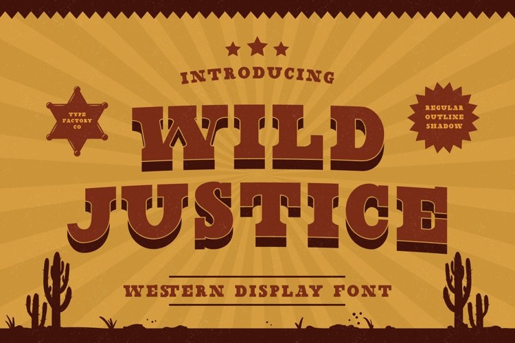 Wild Justice - Western Display Font example image 1