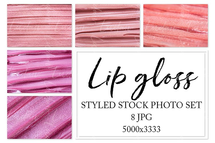 Lip gloss. Styled stock photo set. example image 1