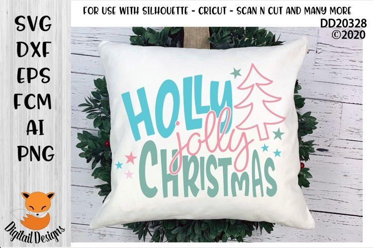 Holly Jolly ChristmasWinter SVG example image 1