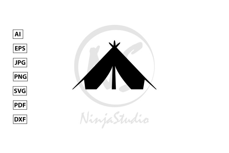 Tent Icon In Flat Style Vector example image 1