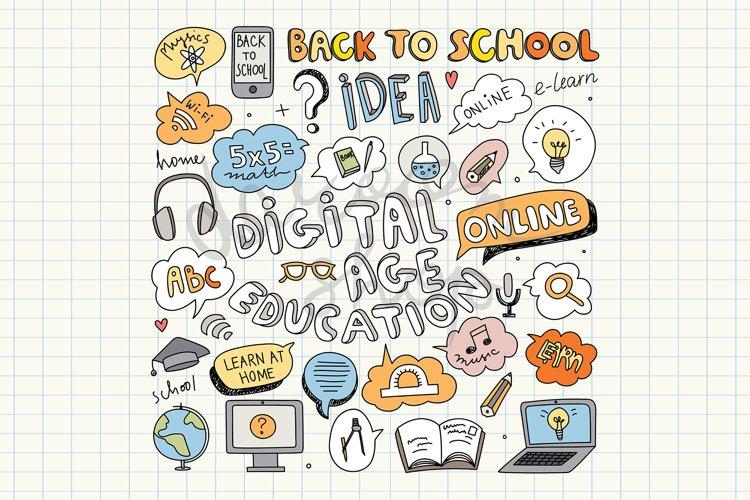 Digital Education Clipart, Back to School, Online Education