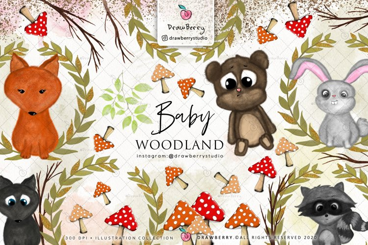 Baby Woodland Animal Clipart example image 1