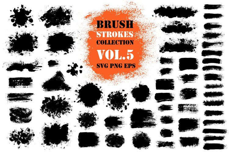 Brush Stroke SVG Collection   Painted PNG Design Elements example image 1