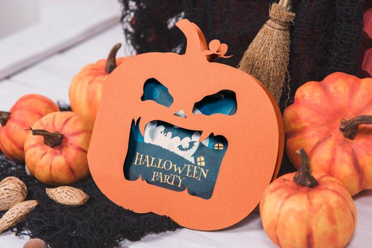 Halloween Jack O Lantern Foldable Invitation cutting file example image 1