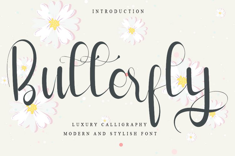 Butterfly - Luxury Calligraphy Font example image 1