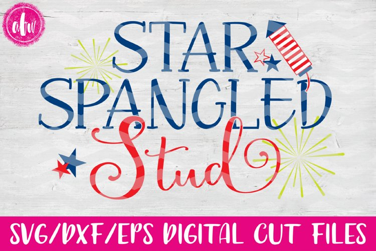 Star Spangled Stud - SVG, DXF, EPS Cut Files example image 1