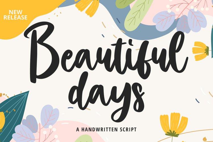 Beautiful Days example image 1
