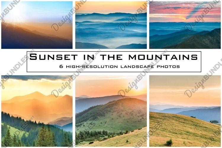 LANDSCAPE MOUNTAIN PHOTO BUNDLE #1 example image 1