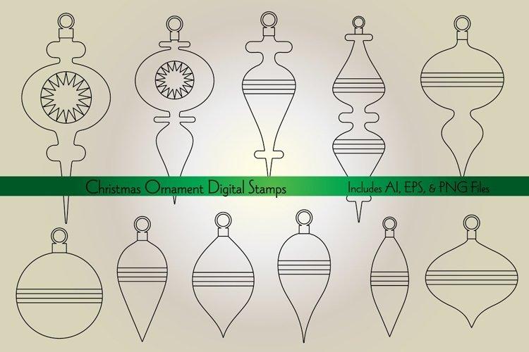 Christmas Ornament Digital Stamps