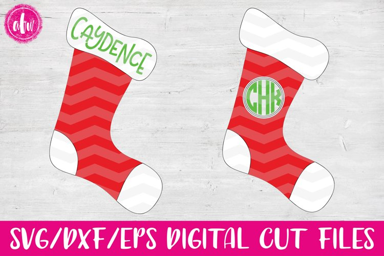 Christmas Stockings - SVG, DXF, EPS Cut File example image 1