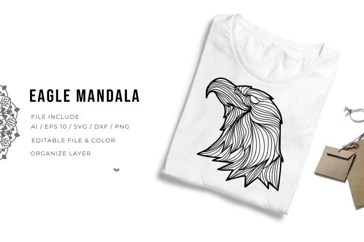 Eagle Mandala   SVG example image 1
