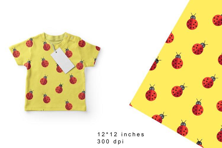 Ladybug Digital Paper. Ladybugs Seamless Pattern example image 1