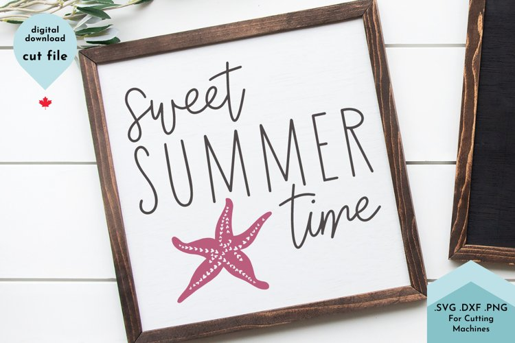 Summer SVG, Cute Starfish Cut File example image 1