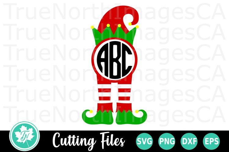 Christmas SVG   Monogram SVG   Elf SVG example image 1