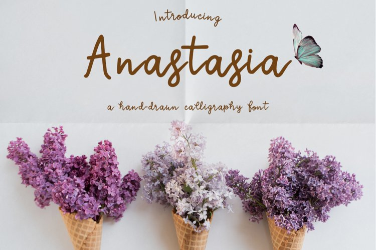Anastasia a calligraphic font example image 1
