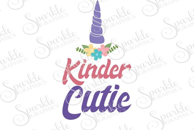 Unicorn Kinder Cutie Cut File Set | SVG, EPS, DXF, PNG example image 1