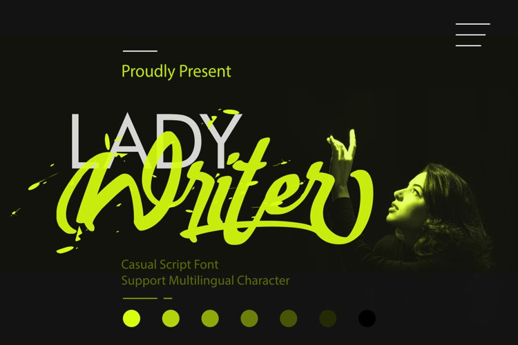 Lady Writer Casual Script Font example image 1
