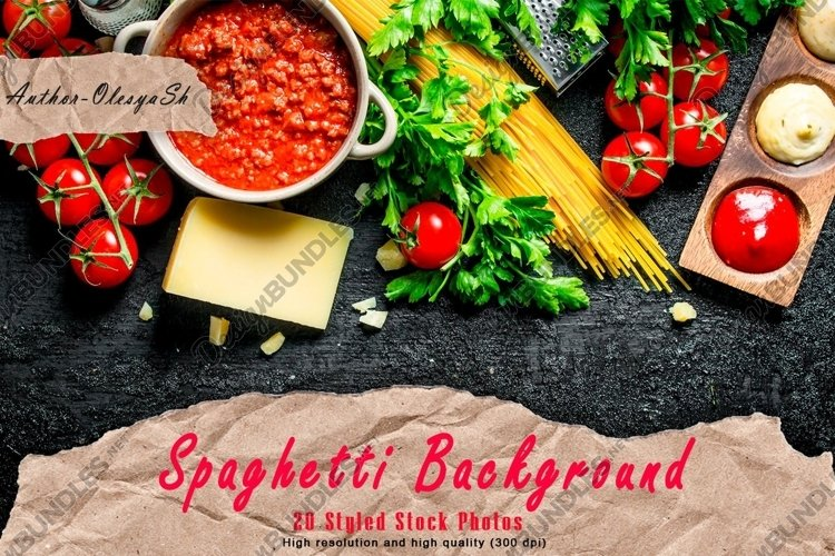 20 Photos Pasta background. Spaghetti with different sauces example image 1