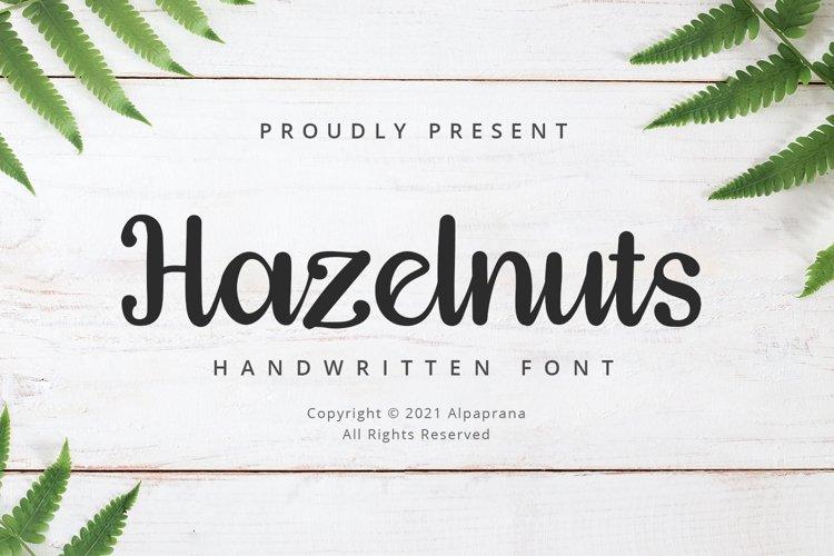 Hazelnuts - Handwritten Font example image 1