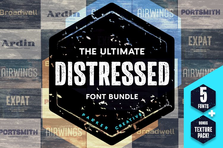 Font Bundle | Ultimate Distressed Font Collection