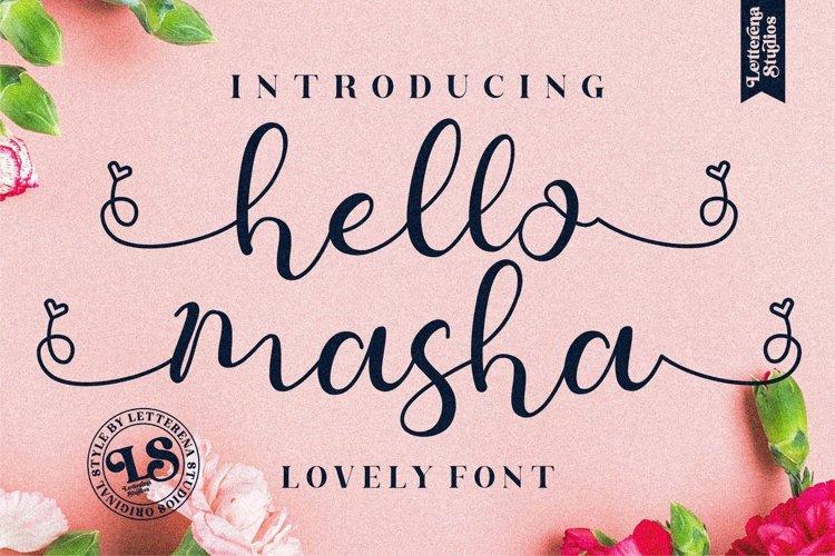 hello masha - Beautiful Lovely Script Font example image 1