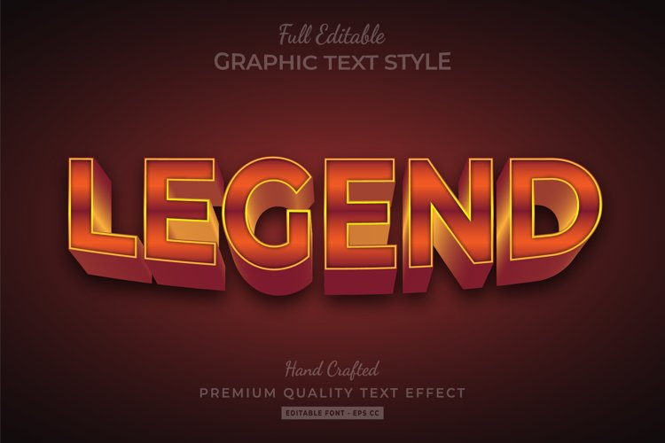 Legend 3d Text Style Effect Premium example image 1
