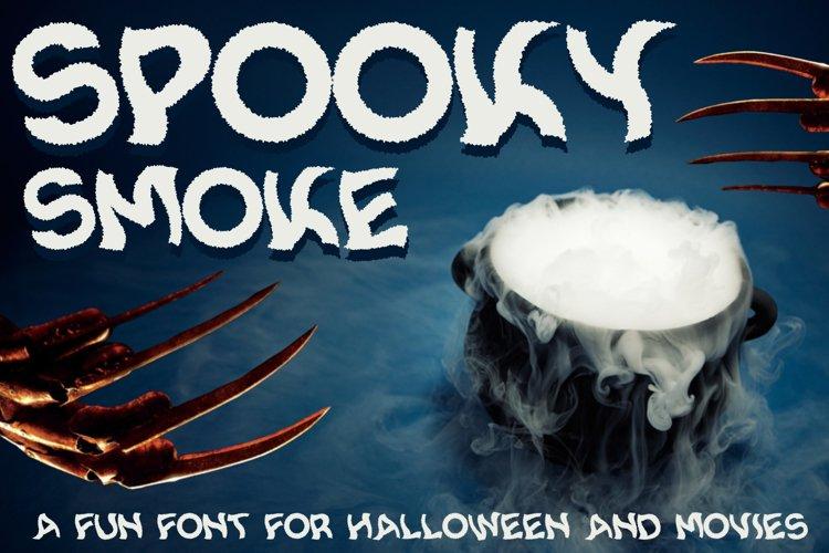 Spooky Smoke - Halloween & Twisted Font example image 1