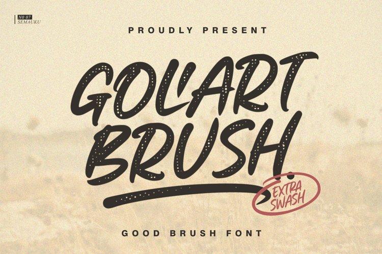 Goliart Brush Font example image 1