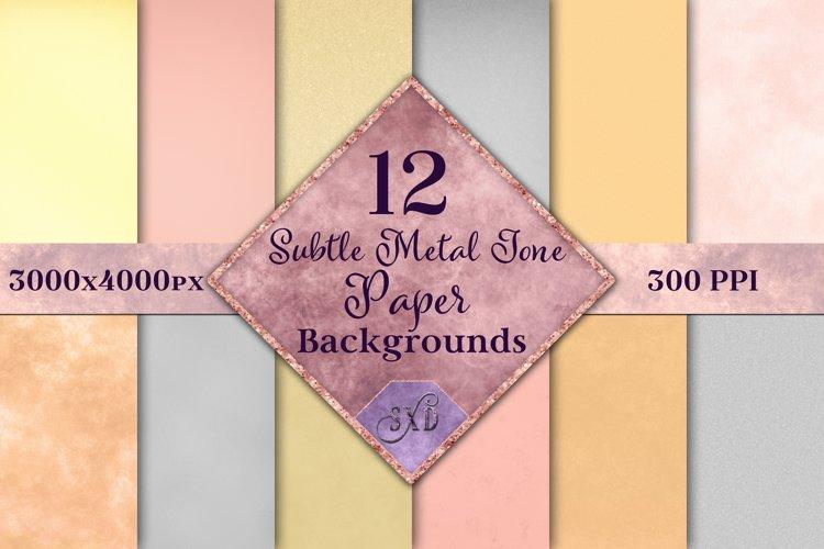 Subtle Metal Tone Paper Backgrounds - 12 Image Textures Set example image 1