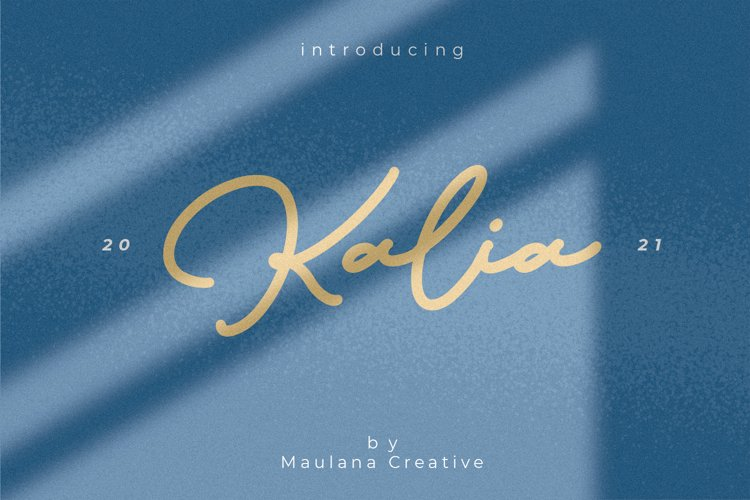Kalia Handwritten Signature Font example image 1