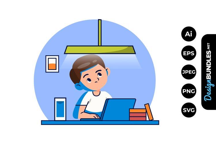 Boy Doing Homework Clipart example image 1