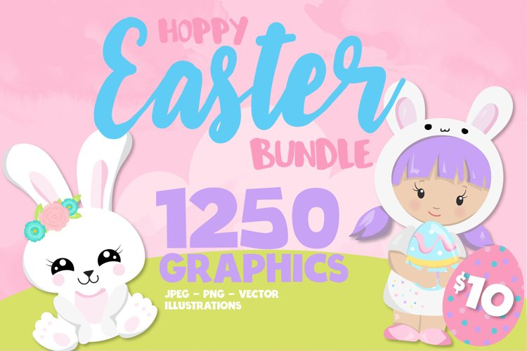 Easter illustrations bundle - Baby Sublimation designs