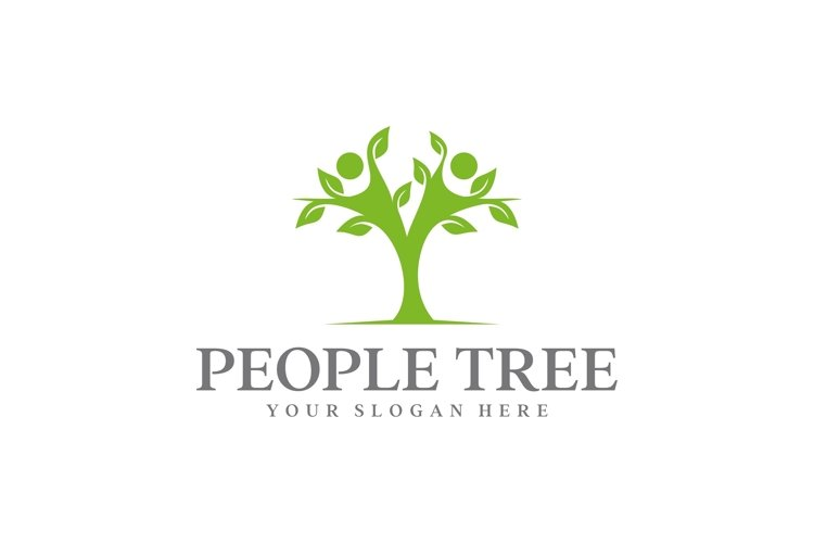 people tree logo design Design vector