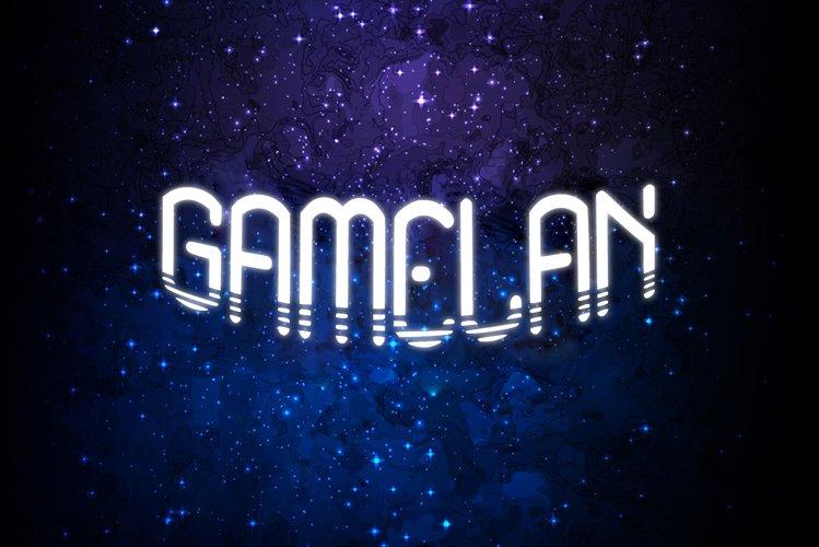 Gamelan Sci Fi Font