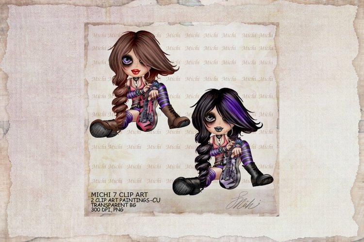 Michi 7 Cute Rock And Roll Girl Clip Art