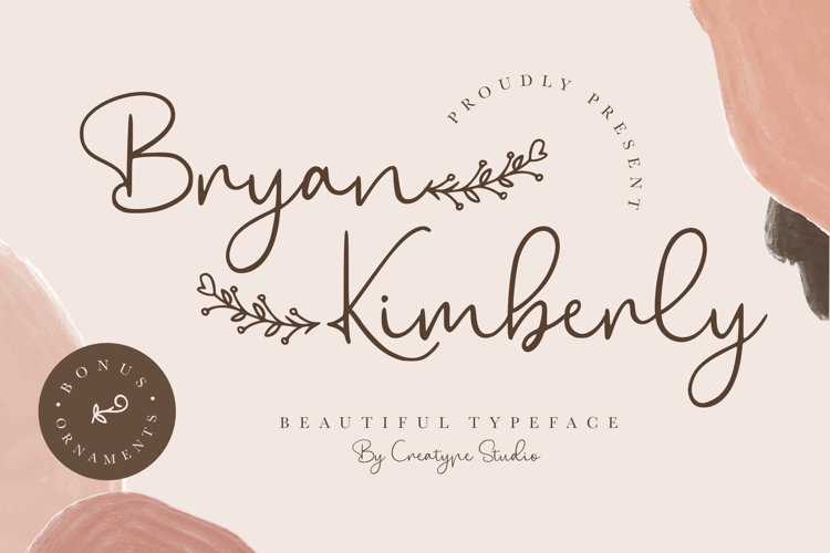 Bryan Kimberly Beautiful Typeface example image 1