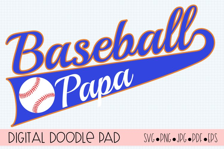 Baseball Papa SVG | Silhouette and Cricut Cut File example image 1