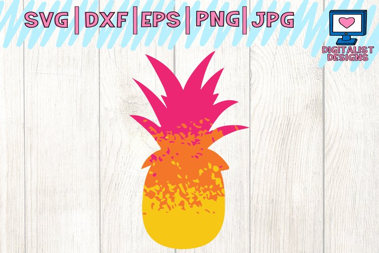 pineapple svg, grunge svg, ombre svg, pineapple clipart, cricut design space, silhouette cameo, svg for cricut, pineapple cut file, pineapple shirt example image 1