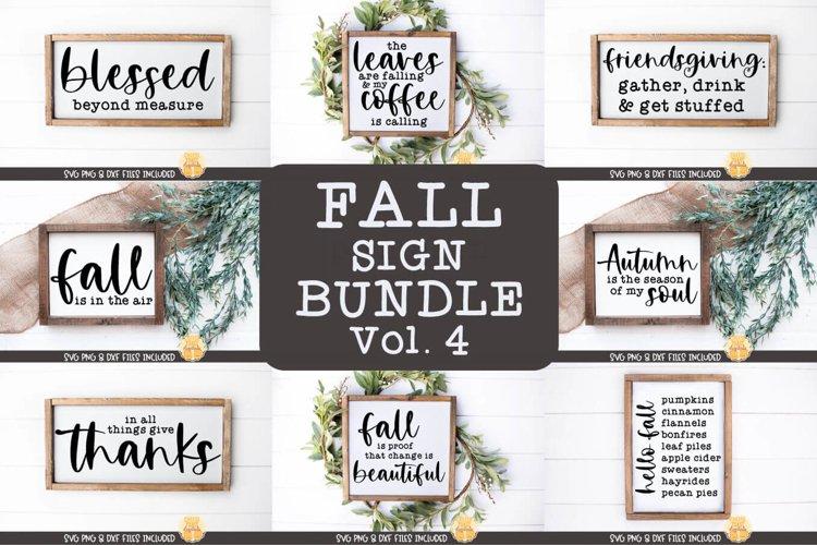 Fall Sign Bundle Vol 4 | Farmhouse Autumn SVG Files