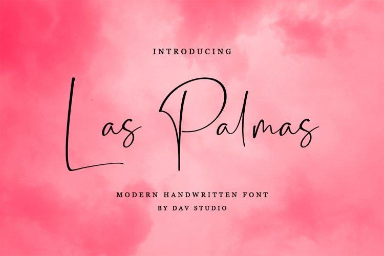 Las Palmas - Handwritten Font example image 1