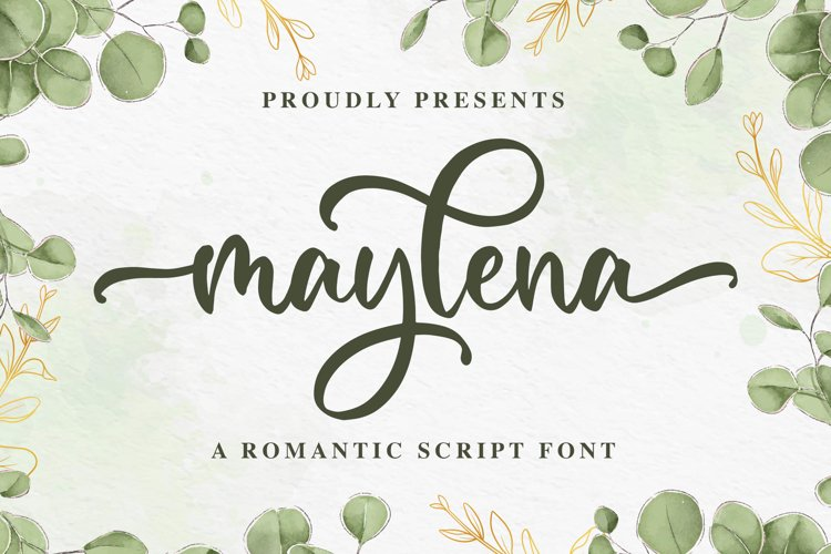 Maylena a Romantic Script Font example image 1