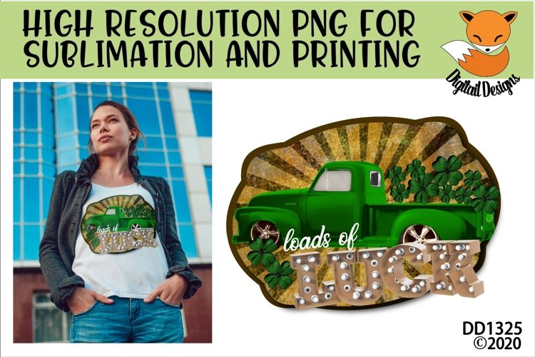 St Patricks Day Truck Sublimation Printable