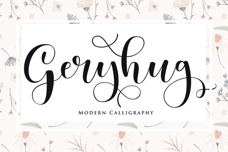 Geryhug - Script Fonts