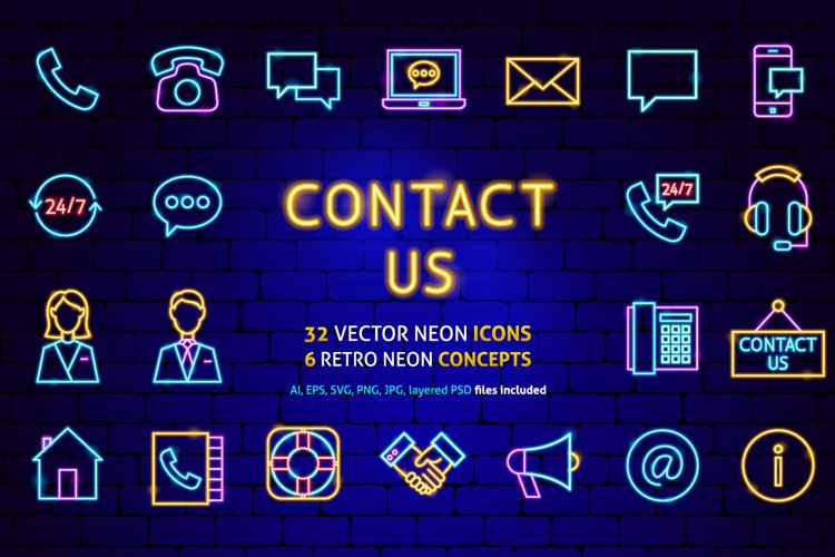 Contact Us Neon example image 1