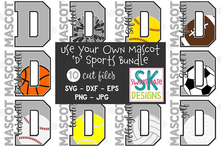 Your Own Mascot D SVG Bundle - 10 - SVG DXF EPS PNG JPG example image 1