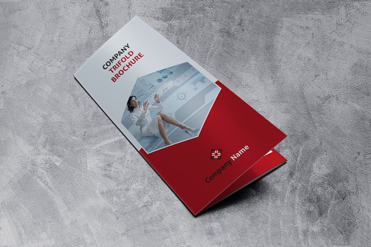 Trifold red Brochure example image 1