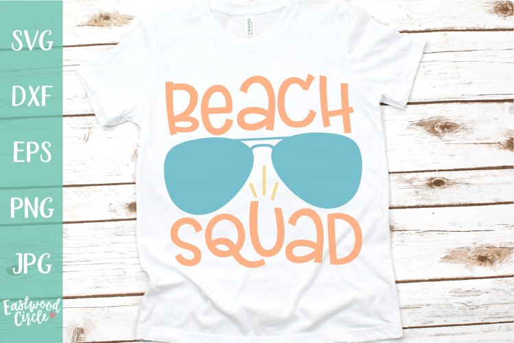 Beach Squad - A Beach SVG Cut File for Crafters example image 1
